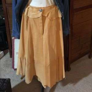 Vintage Western buttery soft leather culottes